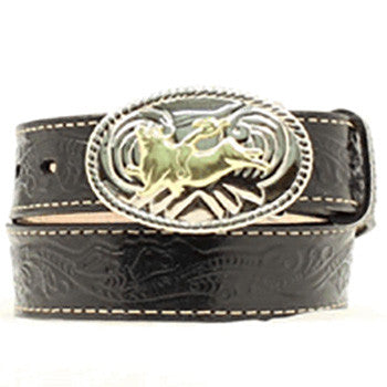 Kid's Bull Buckle with Black Belt