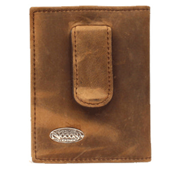 Nocona Brown Front Money Clip