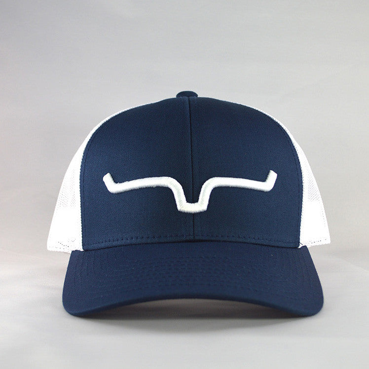 Kimes Ranch Navy and White Cap