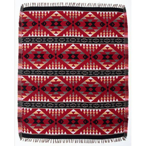 Red Southwest Design Accent Throw