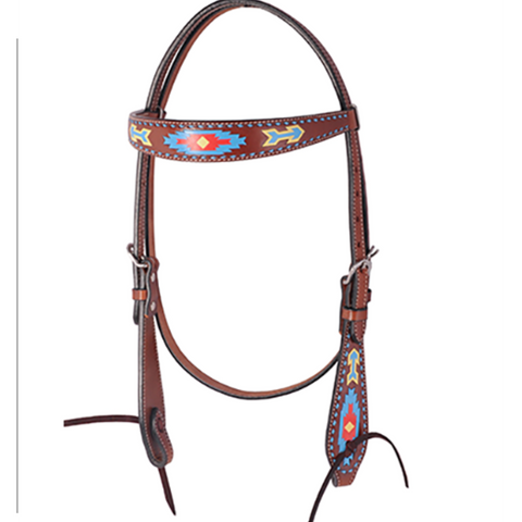 Oxbow Southwest Hand-Painted Browband Headstall