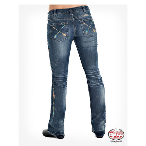 Cowgirl Tuff Women's Wild Pathmaker Arrow Bootcut Jean