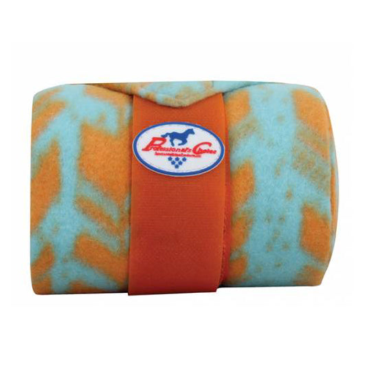 Professional Choice- Aqua and Orange Arrow Polo Wraps