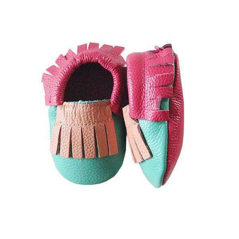 Mila & Rose Tropic Leather Baby Moccasins