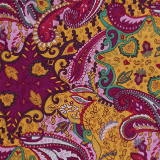 Wyoming Traders Paisley Lemon Berry Wild Rag
