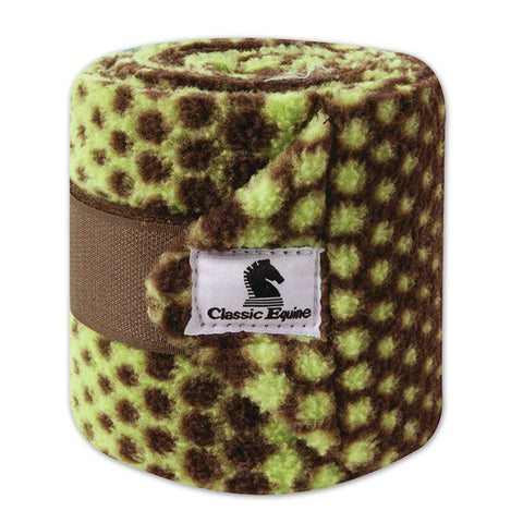 Classic Equine Chocolate Lime Dots Polo Wraps