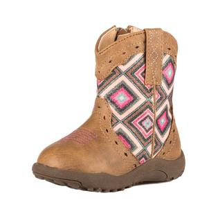 Roper Infant Tan Pink Geo Diamond Boots