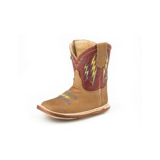 Roper Infant Tan and Red Lightning Boots