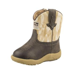Roper Infant Brown Camo Flag Boots