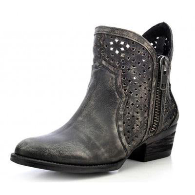 Corral's Circle G Brand- Black and Grey Shorty Boots