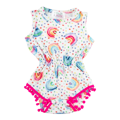 Mila & Rose Rainbow Romper