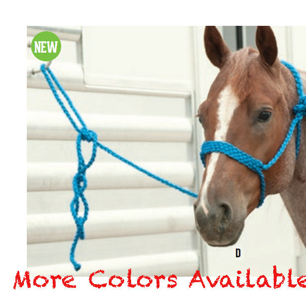 Classic Equine Braided Rope Halter- Multiple Colors