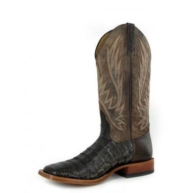 Horse Power Men's Chocolate Caiman Square Toe