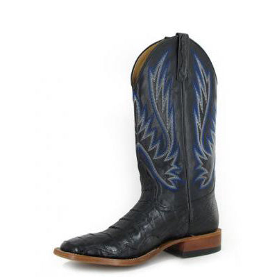 Horse Power Men's Black and Blue Caiman Square Toe
