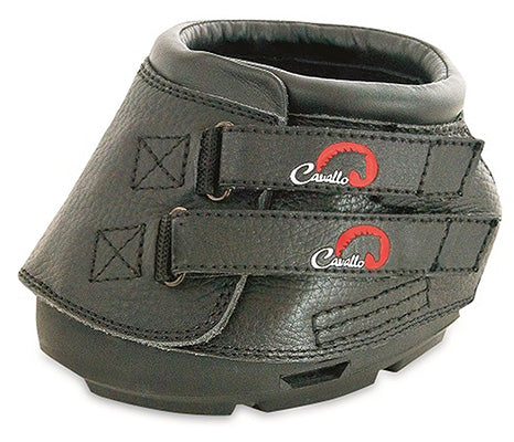 Cavallo Black Simple Hoof Boot Size 5