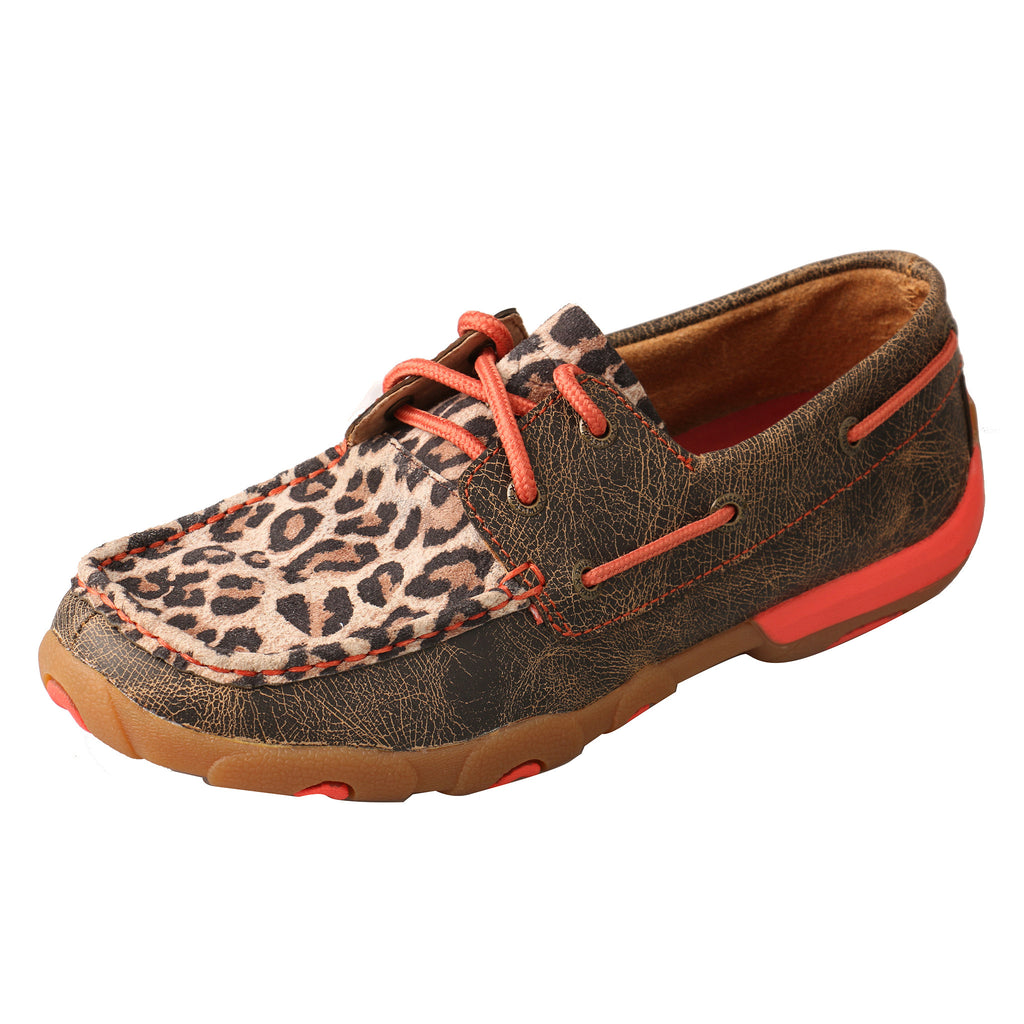 Twisted X Leopard and Coral Driving Moc