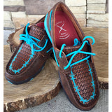 WE Exclusive ~ Twisted X Women's Blue Tooled Barbwire Moc