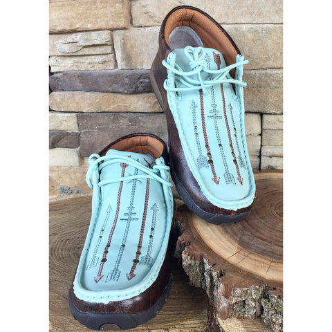 3ec370396b9 WE Exclusive ~ Twisted X Women s Ocean Arrow Driving Moc
