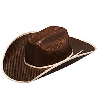 Kid's Chocolate Tan Bound Straw Hat