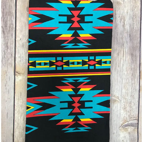 Black and Turquoise Aztec Tea Towel
