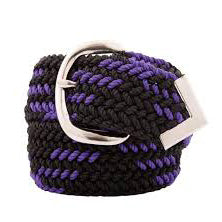Men's Black and Purple Web Belt