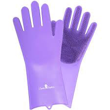 Classic Equine Purple Washing Gloves