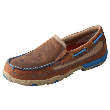 Twisted X Women's Brown and Blue Slip on