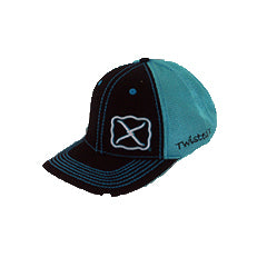 Twisted X Black and Turquoise Snap Back Cap
