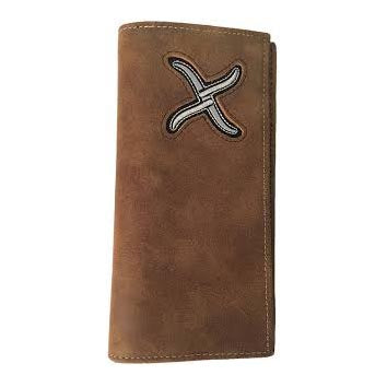 Twisted X Brown with White X Checkbook Cover
