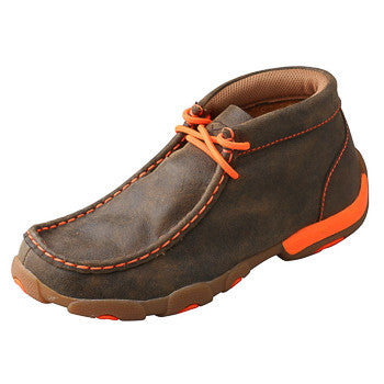 Twisted X Kids Brown and Orange Driving Moc
