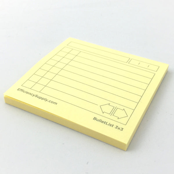 BulletList Post-it® Notes 3x3