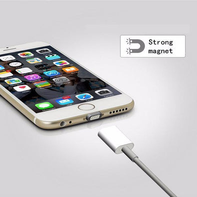 Anhem magnetic breakaway charging cable for apple android white gold silver