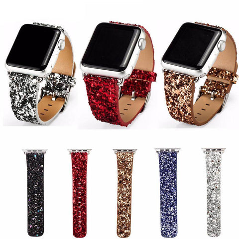 anhem apple watch leather glitter band