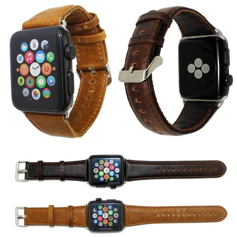 anhem - apple watch leather band brown