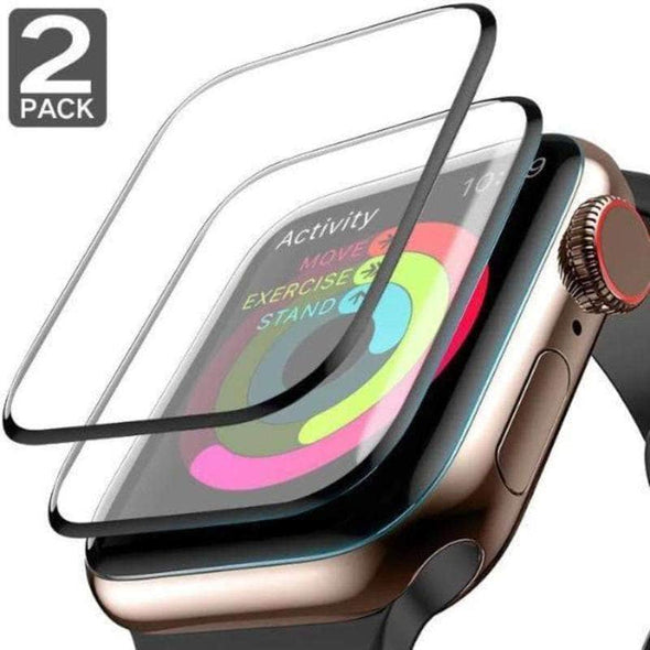 Anhem Apple watch accessories 42mm [2 PACK] / Black/Clear Apple Watch Tempered Glass Screen Protection