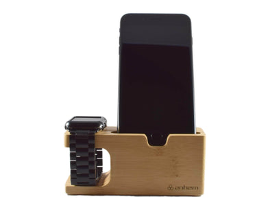 Anhem Apple watch accessories Bamboo Wood Apple Watch Charging Dock
