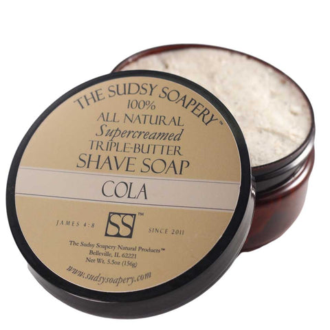 Supercreamed Triple Butter Shaving Soap, Cola