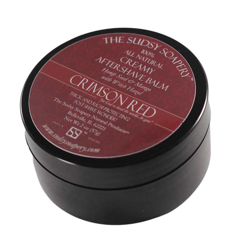 Creamy After Shave Balm, Crimson Red, Mango Hemp Lotion