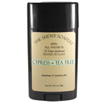 Sudsy Soapery Natural Cypress and Tea Tree Stick Deodorant, Aluminum and Paraben Free, 2.75 oz (78g)
