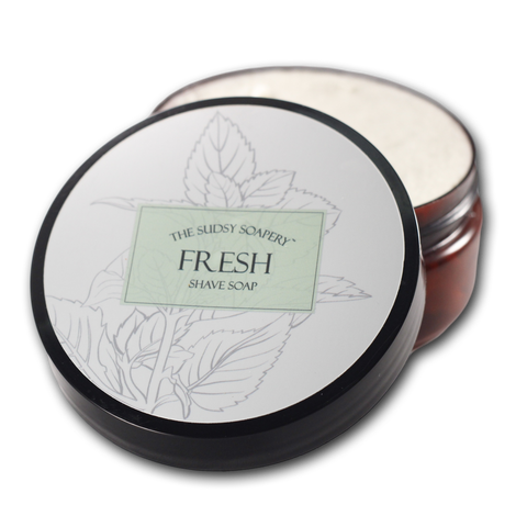 Fresh Triple Butter Shaving Soap, with Peppermint and Spearmint