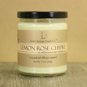 Lemon Rose Chypre Limited Edition Soy Candle with 100% Pure Essential Oils
