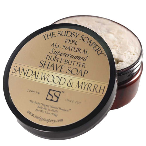 Supercreamed Triple Butter Shaving Sandalwood and Myrrh