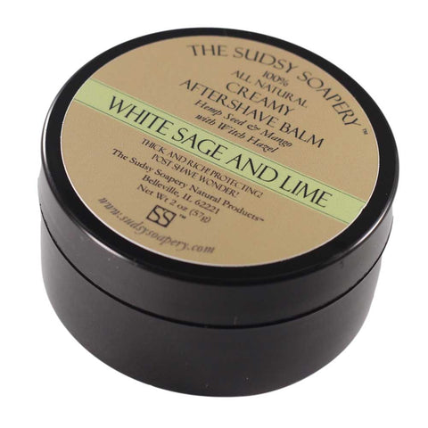 Creamy After Shave Balm, White Sage and Lime, Mango Hemp Lotion