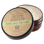 White Sage and Lime Triple Butter Shaving Soap