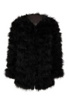 Fluff Jacket Long Black