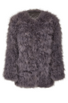 Fluff Jacket Long Grey