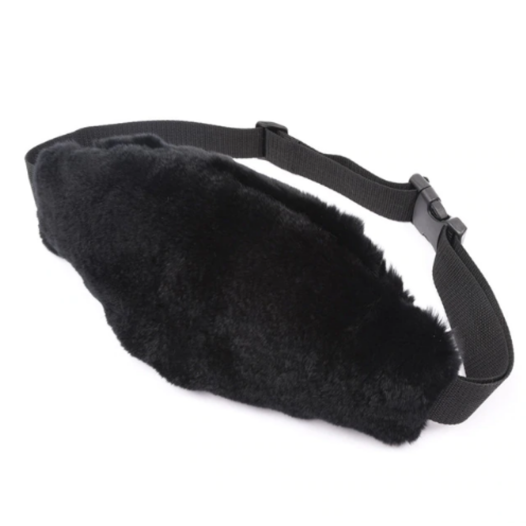 Fur Fanny Pack Black