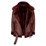 Faux Biker Jacket Faye Bordeaux