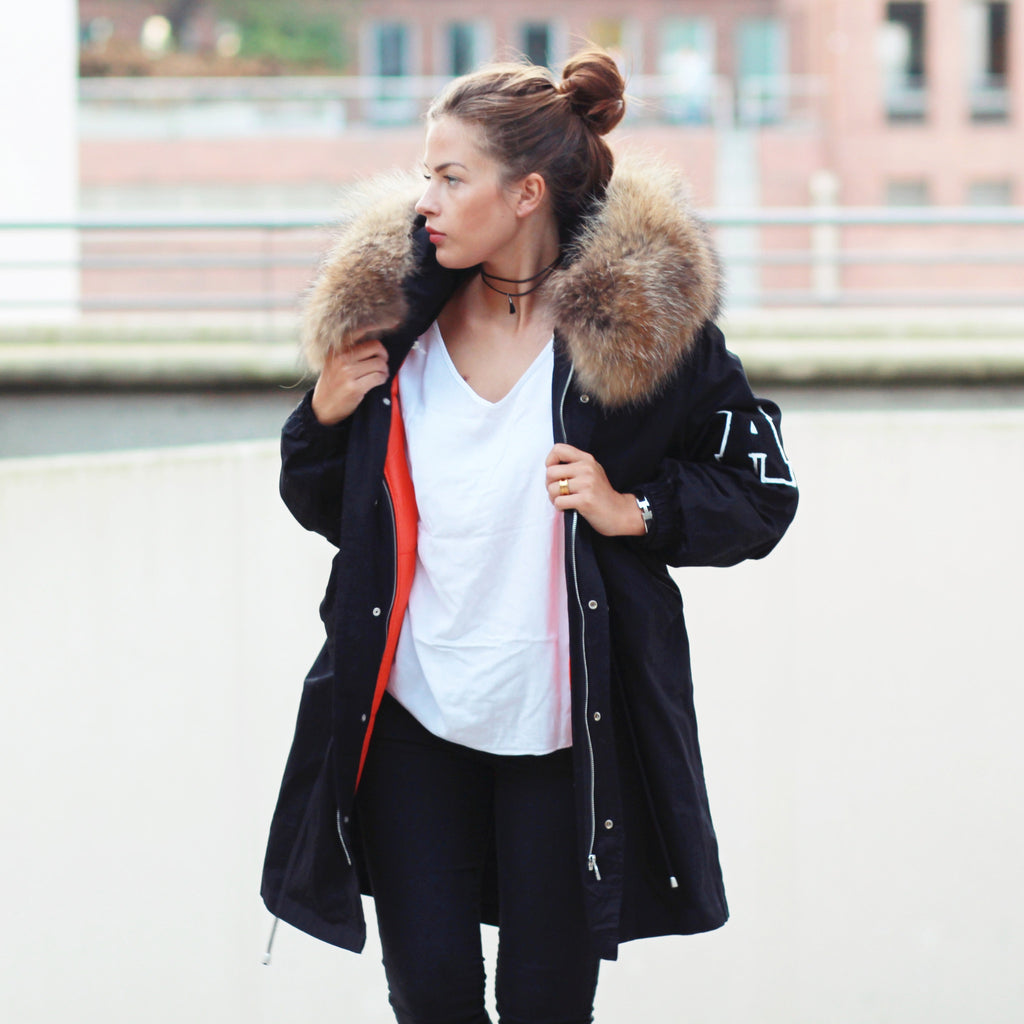 College Parka Black