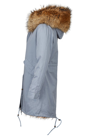 Long Luxury Fox Parka 2.0 Grey